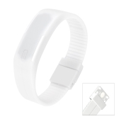 LED Sport Watch Water Resistant Fashionable Digital Bracelet for Men and Women White