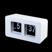 Retro Auto Flip Clock Classic Stylish Modern Desk Wall Clock White