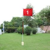 裏庭練習ゴルフのフラッグスティック穴ポール フラグ カップ スティック パッティング グリーン チッピング
