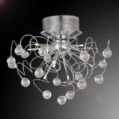 Modern Crystal Chandelier with 9-Light Lamp Ceiling Lighting Chrome 110-120V