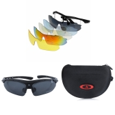 Outdoor Sports Bicycle Cycling Glasses Polarized Sunglasses 5 Replaceable Lenses UV400 Unisex
