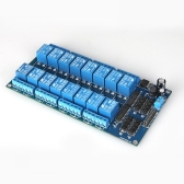 12V Active Low 16 Channel Relay Module Board for Arduino PIC AVR MCU DSP ARM