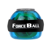 ジャイロスコープ LED 腕時計パワー力ボール グリップ ボール腕筋肉運動 Strengthener 速度計ブルー