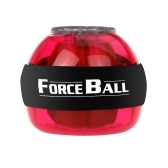 Gyroscope LED Wrist Power Force Ball Grip Ball Arm Muscle Exercise Strengthener Speed Meter Red