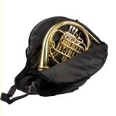 600D Water-resistant French Horn Gig Bag Oxford Cloth Adjustable Single Shoulder Strap Pocket 5mm Cotton Padded