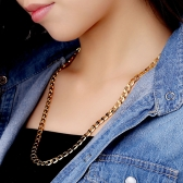 18K Gold Plated Chain Necklace Luxury Classic Jewelry Gift for Women Lady Girl