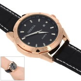 MG·ORKINA Unisex Luxury Leather Wristwatch Water-resistant Leisure Style Analog Quartz Calendar Date Watch