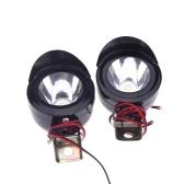 2Pcs Universal Motorcycle Motorbike LED Front Headlight Head Lamp Spot Light