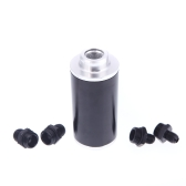 Universal Fuel Filter with 2pcs AN6/AN8/AN10 Adaptor Fittings Total 6pcs Black Fittings