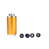 Universal Fuel Filter with 2pcs AN6/AN8/AN10 Adaptor Fittings Total 6pcs Black Fittings  Golden