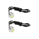 2pcs 3W LED DRL Eagle Eye Car Fog Daytime Reverse Backup Parking Signal Lamp Light