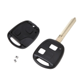 2 Buttons Switches Car Remote Key Case Shell Replacement Protection Cover with Uncut Blade Toy47 for Toyota Avensis