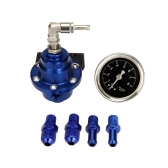 High Performance Adjustable Fuel Pressure Regulator with Filled Oil Gauge for Car Auto