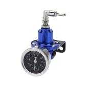 Professional High Performance Adjustable Fuel Pressure Regulator with Filled Oil Gauge for Car Auto