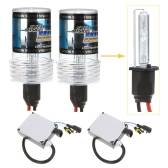 H1 55W 6000K Xenon HID Conversion Kit Single Beam Bulbs Lights Super Vision Headlamps Ballast