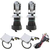 H4 55W 6000K H/L Beam Xenon HID Conversion Kit Telescopic Light Headlamps Super Vision Bulbs Ballast