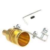 Turbo Sound Whistle Exhaust Pipe Tailpipe Blow-off Valve Aluminum Size L Golden