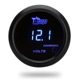 Digital Voltage Meter Gauge for Auto Car 52mm 2in LCD 0~15V Warning Light Black