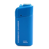 USB Emergency Battery Charger Flashlight for Cellphone iPhone iPod Blue