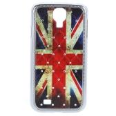 英国旗パターン デザイン ハード ケース バック カバー サムスンギャラクシー S4 i9500/i9505 用ラインス トーン付き