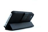 磁気吸着フォリオ スマート フリップ ケース皮膚スタンド カバー iPhone 4 4 s 多機能ホルダー ヘッドフォン ボビン巻線機ブラック