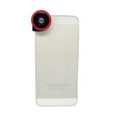 1 で 3 携帯電話カメラのレンズと 180 ° フィッシュアイ マクロ 0.67 X 広角 iPhone 5 のため 5 s 赤