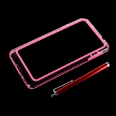 Colorful TPU+PC Bumper Frame Case Cover for Samsung N9000 Galaxy Note3+Stylus Pen Pink