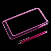 Colorful TPU+PC Bumper Frame Case Cover for Samsung N9000 Galaxy Note3+Stylus Pen Rose
