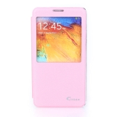 Flip Smart View PU Leather Case Cover for Samsung Galaxy Note3 N9000 Pink