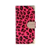 おしゃれな財布ヒョウ ケース フリップ革カード ホルダー/ストラップ カバー アップル iPhone 6 ローズ