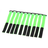 10 Pcs Strong RC Battery Antiskid Cable Tie Down Straps 26*2cm Green