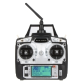 Original Flysky FS-T6 High Precision 2.4GHz 6CH Mode 2 Transmitter W/Receiver R6-B for RC Multirotor Quadcopter Helicopter Airplane Glider Car