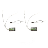 2Pcs 2.4G Flysky FS-iA6 6 Channel Remote Control Receiver with Double Antenna Compatible Flysky i4 i6 i10 GT2E GT2F GT2G Transmitter