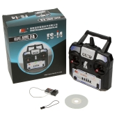 Flysky FS-i4 AFHDS 2A 2.4GHz 4CH Radio System Transmitter for RC Helicopter Glider with FS-A6 Receiver