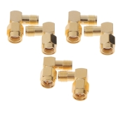 6pcs 5.8G Right Angle SMA Female/Male Antenna Connector for RC Aircraft FPV