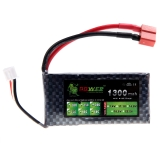 Oriainal Lion Power Lipo Battery 7.4V 1300Mah 25C MAX 40C T Plug for RC Car Airplane Helicopter Part (Lion Power Lipo Battery;7.4V 1300Mah 25C;RC Lipo Battery T Plug)