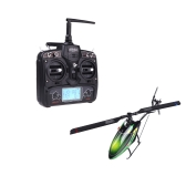 Walkera New V120D02S 2.4G 6 Axis System 6CH 3D RTF Flybarless RC Helicopter Green w/ DEVO 7 Transmitter Model 2 (Walkera 6CH 3D Helicopter;V120D02S Flybarless Helicopter; DEVO 7 Transmitter)
