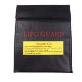 RC LiPo Battery Safety Bag Safe Guard Charge Sack 23 * 18 cm Black