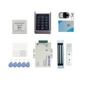 DIY Full Complete RFID Door Access Control Kit Set for Single Door 180kg/396Lbs Electric Strike Magnetic Lock Card PIN Remote Control+Door Bell+Exit Button