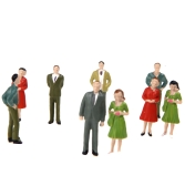 100pcs O Scale 1:50 Mix Painted Model People Train Park Street Passenger Figures