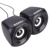 EZEEY T10 USB 2.0 3.5mm Mini Speaker Subwoofer for Desktop Laptop Notebook Tablet PC  FM Radio Smart Phones
