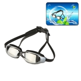 Fashion Unisex Water Sportswear Anti-fog UV Shield Protection Waterproof Eyewear Goggles Swimming Glasses with Ear Plugs Dual Head Straps
