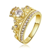 R678-A Wholesale High Quality Nickle Free Antiallergic New Fashion Jewelry 18K Gold PlatedRing