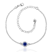 A033-BFree Shipping New Design Large Stock Delicate Handmade   Cheap Silver Plated Anklet Bulk Sale