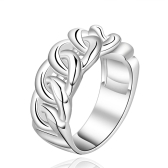 R537-8  Silver plated new design finger ring for lady