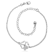 A030Free Shipping New Design Large Stock Delicate Handmade Cheap Silver Plated Anklet Bulk Sale