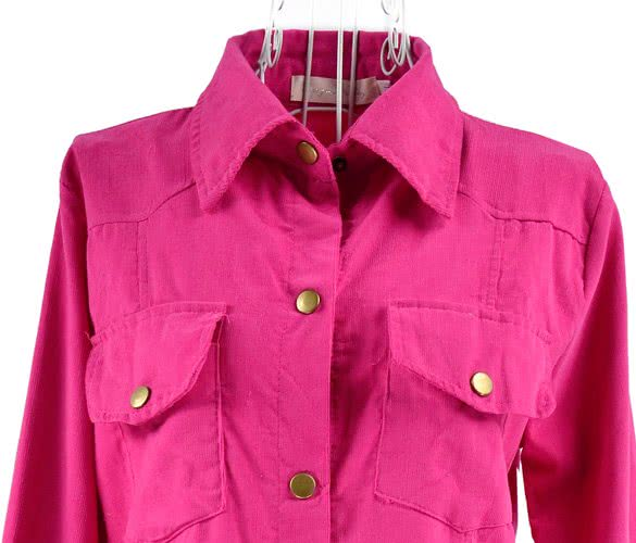 Womens Classic Button Front Blouse 2