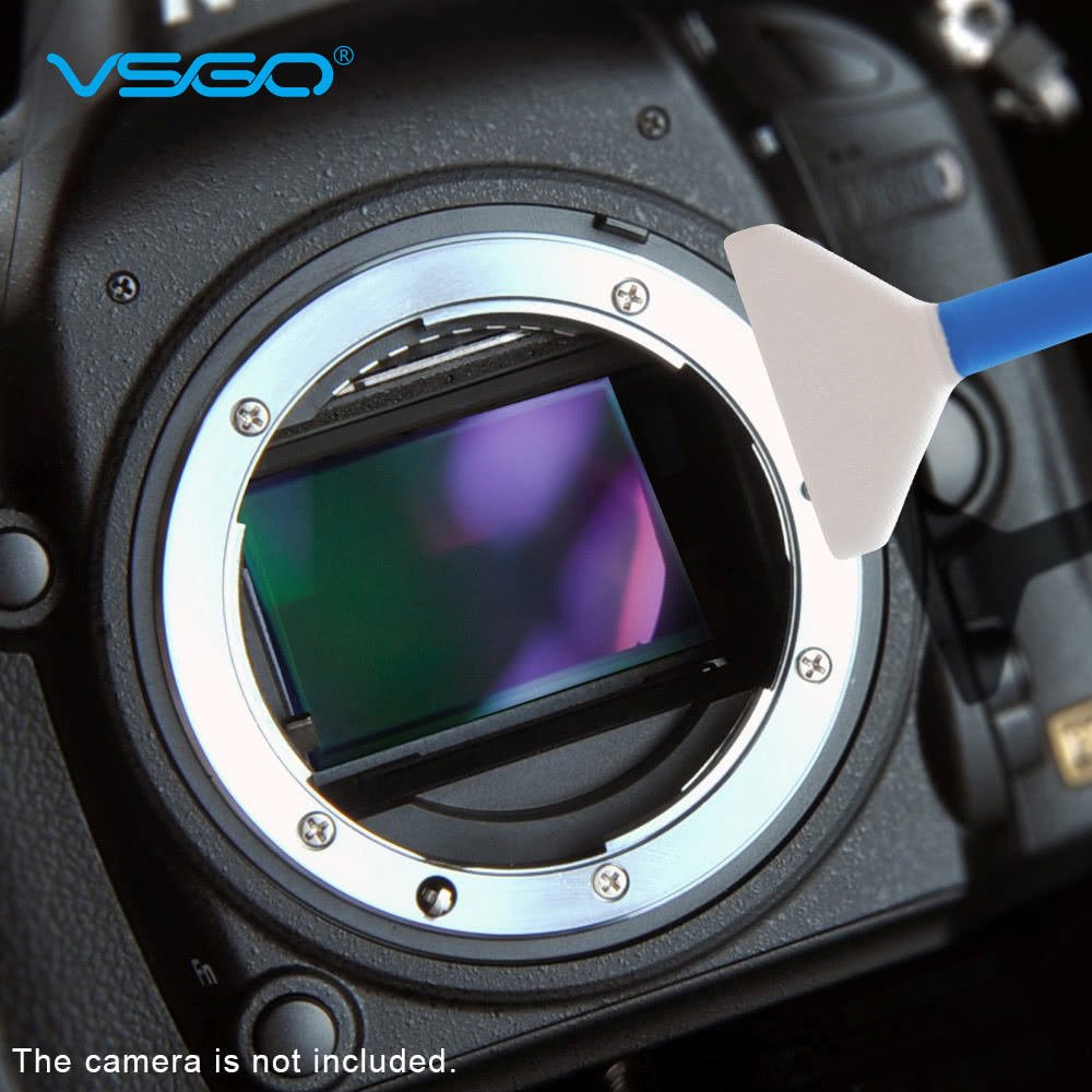 VSGO 10pcs 24mm Microfiber Full Frame Sensor Cleaning Swab Kit for Canon Nikon Sony Pentax DSLR Camera