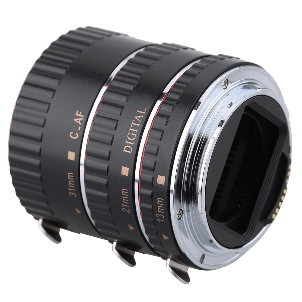 Macro Automatic Auto Focus AF Electronic TTL Extension Adapter Tube Set (13mm 21mm 31mm ) Shots Photography for Canon EOS EF EF-S Lens 760D 750D 700D 650D 550D Rebel T2i T3i T4i T5i 5D3 5DR 5DRS 70D 7D2 60D 5D2