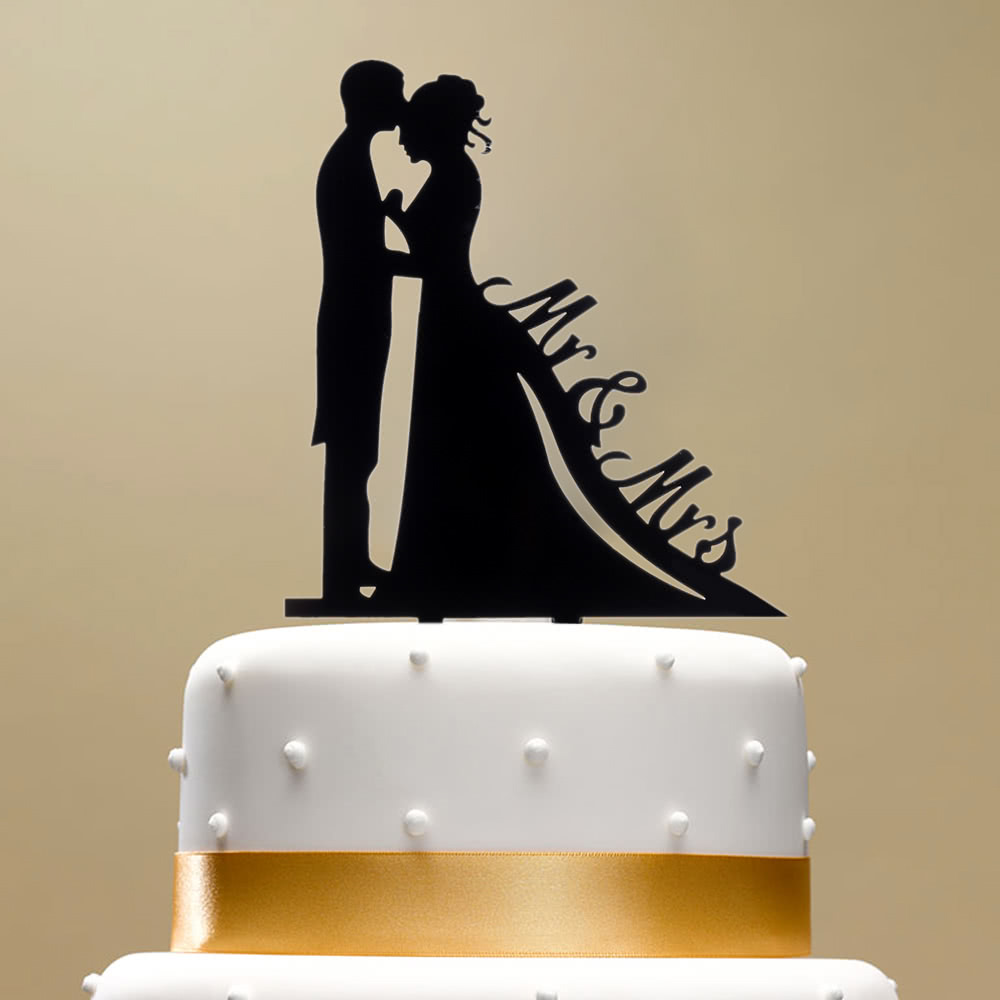 Wedding Cake Topper With Date